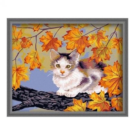 Рисование по номерам. Картина серии Животные, птицы 40х50см, Непослушный котенок, Идейка (G031)