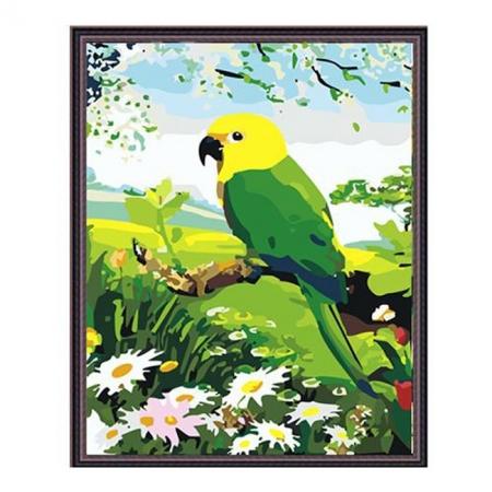 Рисование по номерам. Картина серии Животные, птицы 40х50см, Попугай, Идейка (MG203)