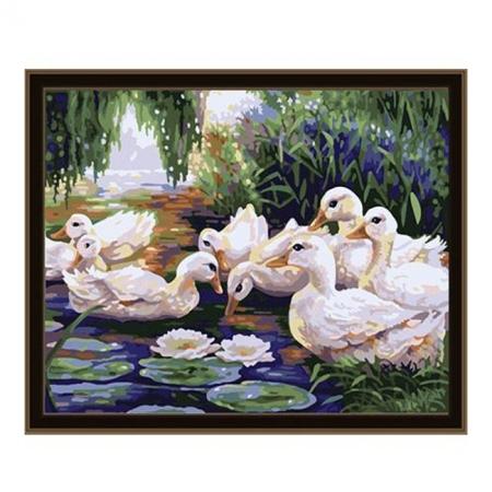 Рисование по номерам. Картина серии Животные, птицы 40х50см, Уточки, Идейка (MG165)