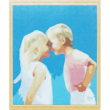 Рисование по номерам. Веселое детство, серия Дети, 30 х 50 см, Идейка, MG1026