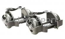 Ролики на пятку Flashing Roller SK-166-BK черный (пластик, колесо PU светящ., 3 лампы, ABEC-5)