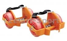 Ролики на пятку Flashing Roller SK-166-OR оранжевый (пластик, колесо PU светящ., 3 лампы, ABEC-5)