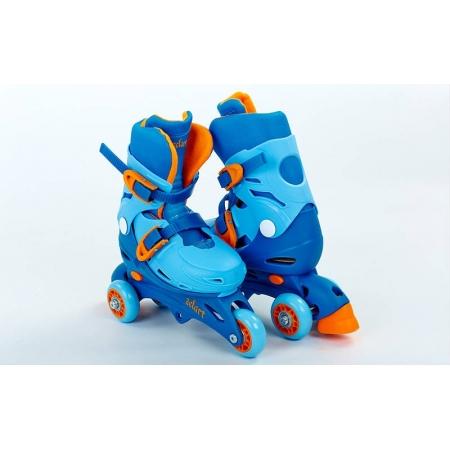 Роликовые коньки раздвижные детские YX-0153-BL(27-30) (изменен. полож. колес, XS, голубой)