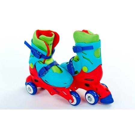 Роликовые коньки раздвижные детские YX-0153-R(31-34) (изменен. полож. колес, S, красный-синий)