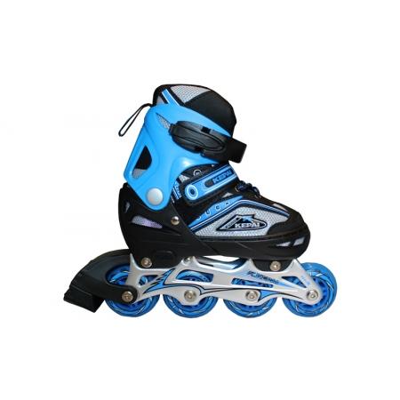 Роликовые коньки раздвижные KEPAI F1-B1-BL(L) (38-41) (PL, PVC, колесо PU, алюм. рама, синий)