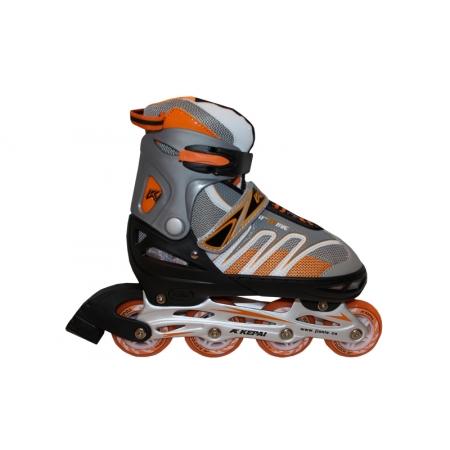 Роликовые коньки раздвижные KEPAI F1-K02-OR(L) (38-41) (PL,PVC, колесо PU, алюм. рама, оранжевый)