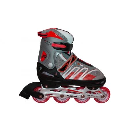 Роликовые коньки раздвижные KEPAI F1-K02-R(L) (38-41) (PL,PVC, колесо PU, алюм. рама, красный)