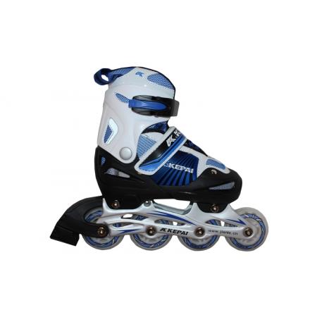 Роликовые коньки раздвижные KEPAI F1-K08-BL(L) (38-41) (PL,PVC, колесо PU, алюм. рама, синий)