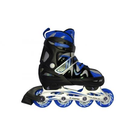 Роликовые коньки раздвижные KEPAI F1-K09-BL(L) (38-41) (PL, PVC,колесо PU, алюм. рама, синий)