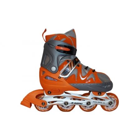 Роликовые коньки раздвижные KEPAI F1-K09-OR(L) (38-41) (PL, PVC,колесо PU, алюм. рама, оранжевый)