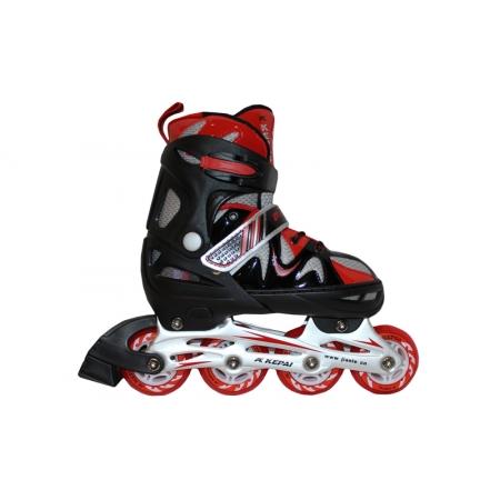Роликовые коньки раздвижные KEPAI F1-K09-R(L) (38-41) (PL, PVC,колесо PU, алюм. рама, красный)