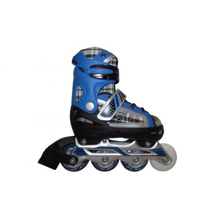 Роликовые коньки раздвижные KEPAI F1-S2-BL(S) (30-33) (PL,PVC,колесо PU, алюм. рама, синий)