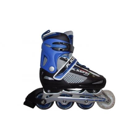 Роликовые коньки раздвижные KEPAI F1-S4-BL(S) (30-33) (PL,PVC,колесо PU, алюм. рама, синий)