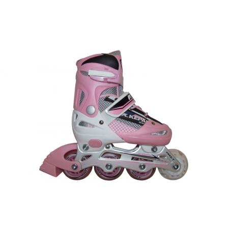 Роликовые коньки раздвижные KEPAI F1-S4-P(L) (38-41) (PL,PVC,колесо PU, алюм. рама, розовый)