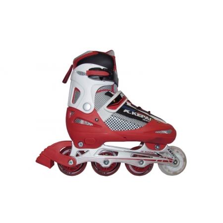 Роликовые коньки раздвижные KEPAI F1-S4-R(L) (38-41) (PL,PVC,колесо PU, алюм. рама, красный)