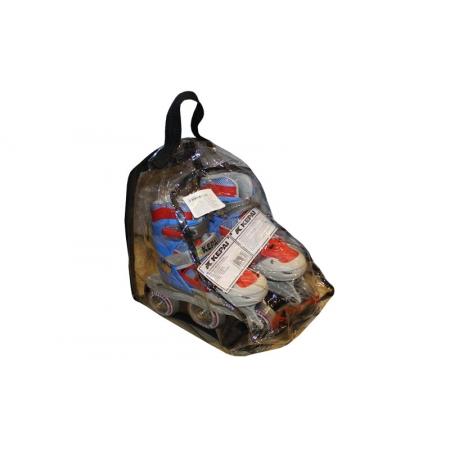 Роликовые коньки раздвижные KEPAI SK-320BK-L (36-39) (PL,PVC, кол. PU, пласт. рама, черный-серый)