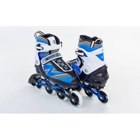 Роликовые коньки раздвижные ZEL Z-093B(34-37) (PL, PVC, колесо PU, алюм. рама, синие)