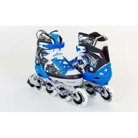 Роликовые коньки раздвижные ZEL Z-098B(34-37) (PL, PVC, колесо PU, алюм. рама, синие)