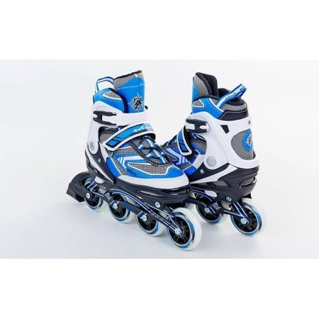 Роликовые коньки раздвижные ZEL Z-5102B(36-39) LUX (PL, PVC, колесо PU, алюм. рама, синие)