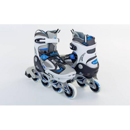 Роликовые коньки раздвижные ZEL Z-636B(36-39) (PL, PVC, колесо PU, алюм. рама, синие)