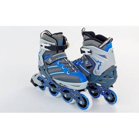 Роликовые коньки раздвижные ZEL Z-803B(38-41) (PL, PVC, колесо PU, алюм. рама, синие)