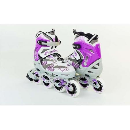 Роликовые коньки раздвижные ZEL Z-805V(38-41) GRACE (PL, PVC, колесо PU, алюм. рама, фиолетовый)