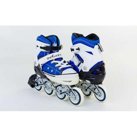 Роликовые коньки раздвижные ZEL Z-823B(38-41) (PL, PVC, колесо PU, алюм. рама, синие)