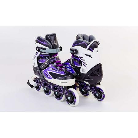 Роликовые коньки раздвижные ZEL Z-9004V(39-42) ELEMENT (PL, PVC,колесо PU,алюм. рама,фиолет)
