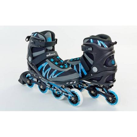 Роликовые коньки ZEL Z-905B-43 METROPOLIS (р-р 43, PL, PVC, колесо PU, алюм. рама, черный-синий)