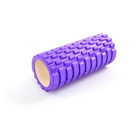 Роллер для занятий йогой массажный EVA FI-5325-1 l-33см (d-14см, фиолетовый)
