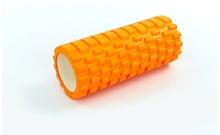 Роллер для занятий йогой массажный EVA FI-5325-3 l-33см (d-14см, оранжевый)