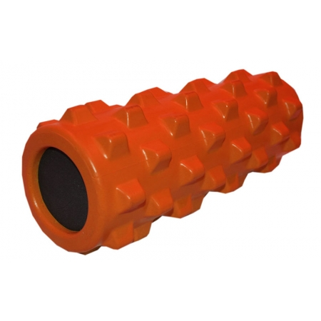 Роллер массажный (Grid Roller) для йоги, пилатеса, фитн. FI-4246-OR (d-13см,l-32,5см, оранжевый)