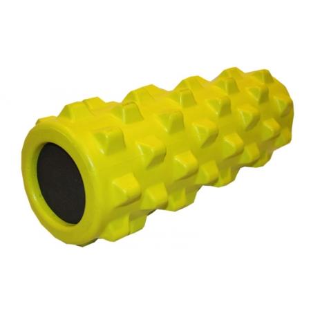 Роллер массажный (Grid Roller) для йоги, пилатеса, фитн. FI-4246-Y (d-13см, l-32,5см, лимонный)