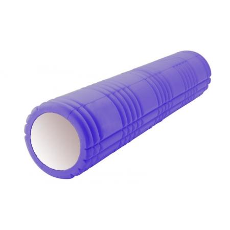 Роллер массажный (Grid Roller) для йоги, пилатеса, фитн. FI-4941-1 (d-14,5см, l-61см, фиолетовый)