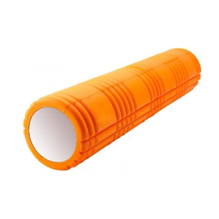 Роллер массажный (Grid Roller) для йоги, пилатеса, фитн. FI-4941-3 (d-14,5см, l-61см, оранжевый)