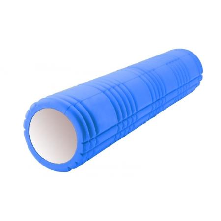 Роллер массажный (Grid Roller) для йоги, пилатеса, фитн. FI-4941-5 (d-14,5см, l-61см, синий)