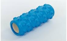 Роллер массажный (Grid Roller) для йоги, пилатеса, фитн. FI-5394-B (d-10см, l-31см, синий)