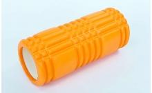 Роллер массажный (Grid Roller) для йоги, пилатеса, фитн. FI-6277-3 (d-14,5см, l-33см, оранжевый)