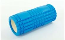 Роллер массажный (Grid Roller) для йоги, пилатеса, фитн. FI-6277-5 (d-14,5см, l-33см, синий)