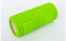 Роллер массажный (Grid Roller) для йоги, пилатеса, фитн. FI-6277-6 (d-14,5см, l-33см, салатовый)