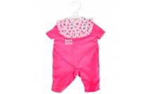 Розовый комбинезон и аксессуары для пупса 38-43 см, New Born Baby, Simba, 540 1631-3