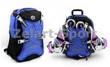 Рюкзак для роликов WHEELERS Z-4671-B (PL, р-р 40x30x12см, синий)