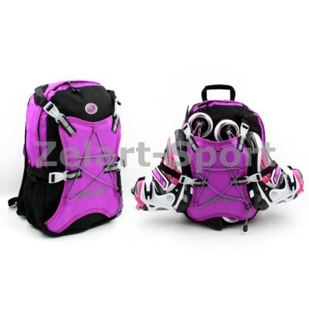 Рюкзак для роликов WHEELERS Z-4671-V (PL, р-р 40x30x12см, малиновый)