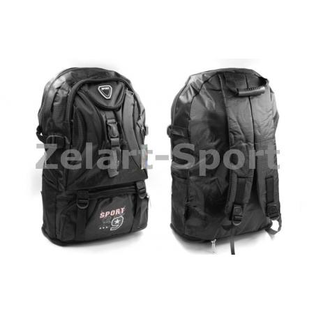 Рюкзак спортивный SPORT TY-0328-BK (PL, р-р 62х22х33см, черный)