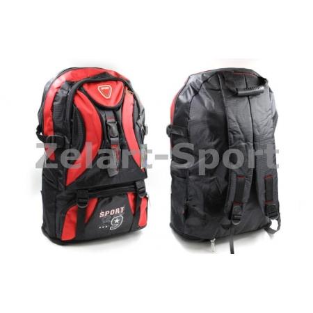 Рюкзак спортивный SPORT TY-0328-R (PL, р-р 62х22х33см, черный-красный)