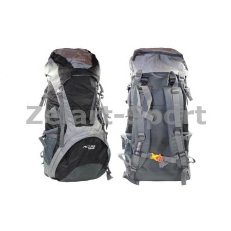Рюкзак туристический V-50+10л каркасный (жесткий) GA-172-BK COLOR LIFE (PL, NY, алюм, черный)