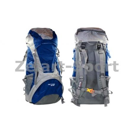 Рюкзак туристический V-50+10л каркасный (жесткий) GA-172-BL COLOR LIFE (PL, NY, алюм, синий)