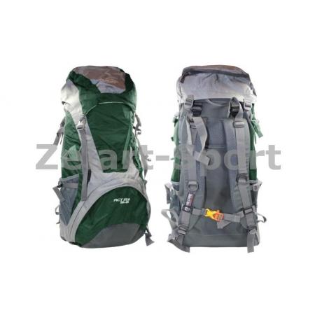 Рюкзак туристический V-50+10л каркасный (жесткий) GA-172-DG COLOR LIFE (PL, NY, алюм, т.зеленый)