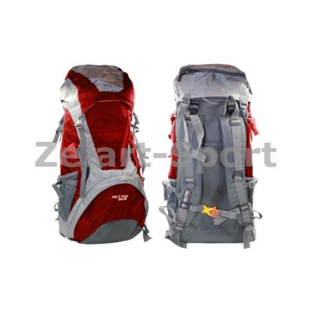 Рюкзак туристический V-50+10л каркасный (жесткий) GA-172-R COLOR LIFE (PL, NY, алюм, красный)