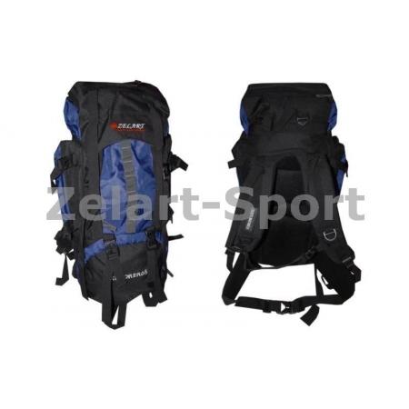 Рюкзак туристический V-65+10л каркасный (жесткий) GA-3711-B ZEL (PL, NY, алюминий, темно-синий)
